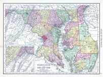 Maryland and Delaware, World Atlas 1913